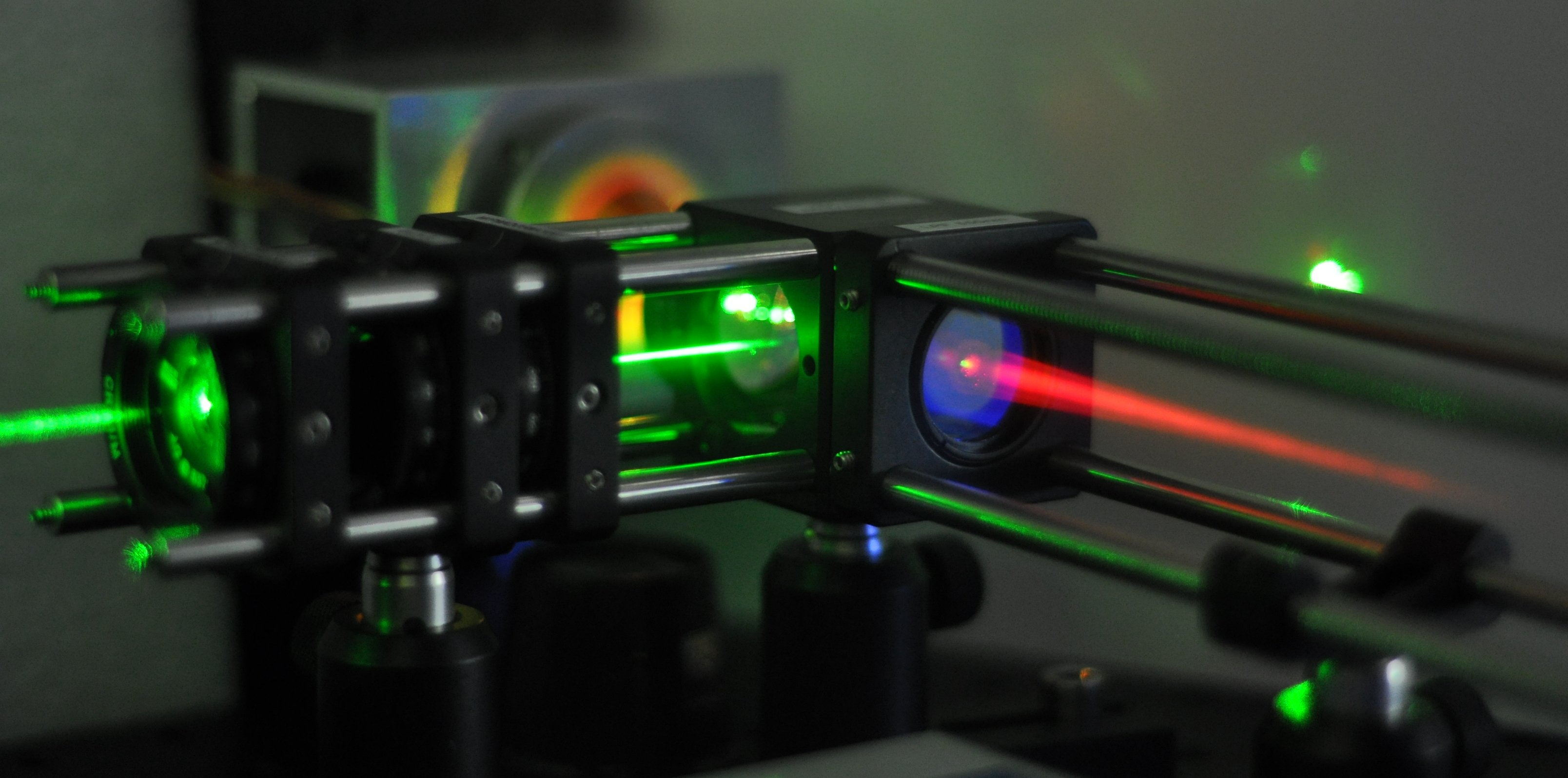 a liquid crystal laser in the laboratory