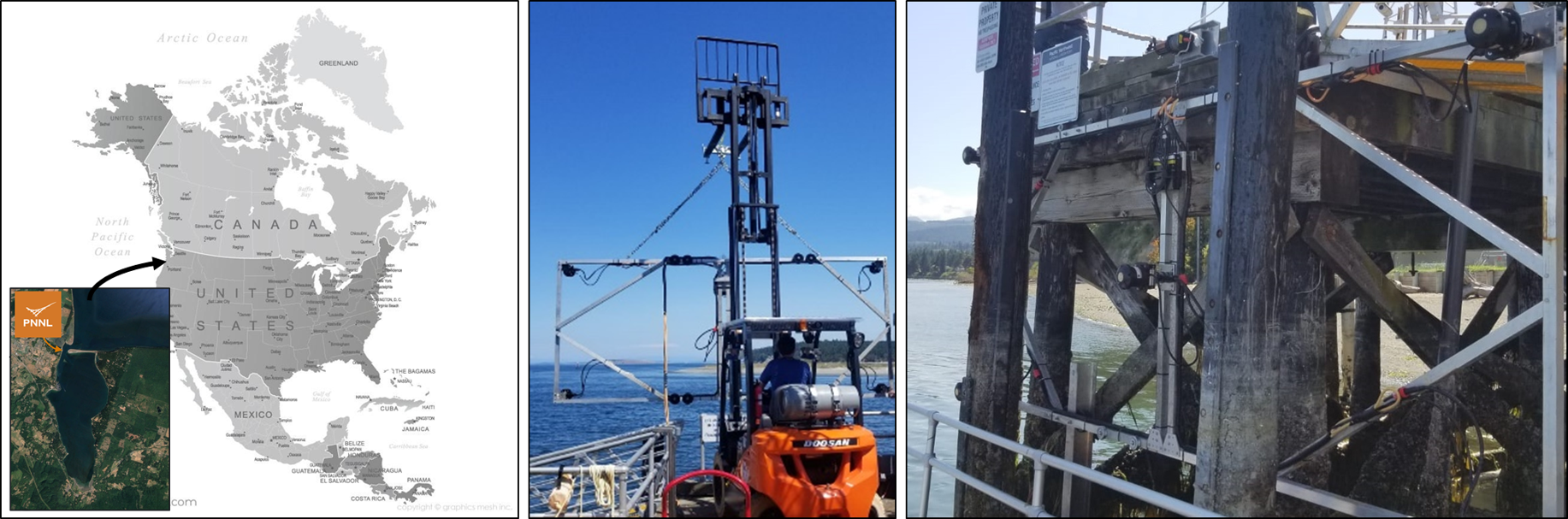 Deployment of the convergent current measurement system, PNNL Marine Sciences Laboratory, Sequim