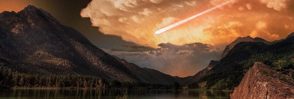 Image of comet striking earth
