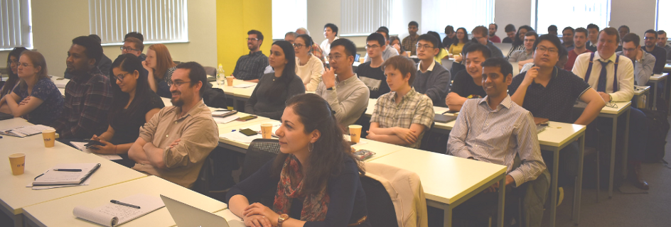 Attendees at the 1.5 day Hewitt-Reese Spring School for Modelling Multiphase Flows at the University of Strathclyde