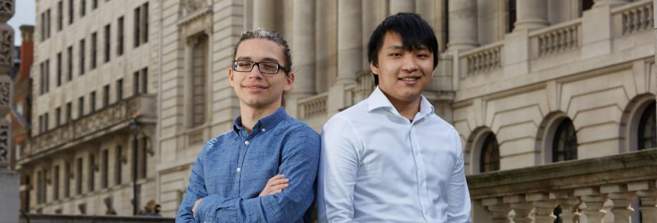 Nikolay Momchev (left) and Tze Liang Chee (right), fifth year students who won the Telegraph STEM Awards Innovation Challenge 2019 (Photo credit: Telegraph)
