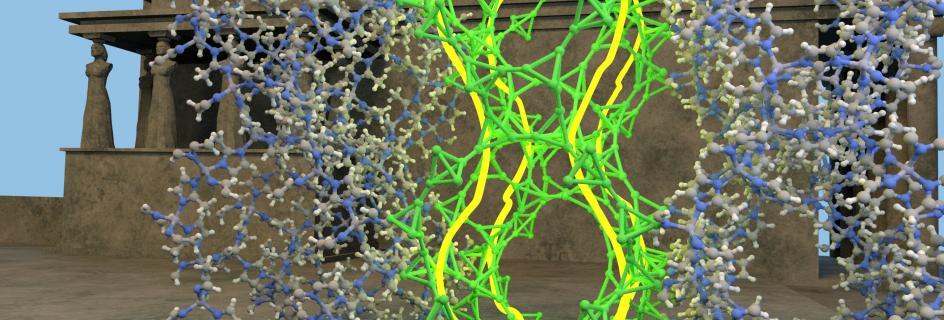 Illustration of the 'Chemical Caryatids'. Credit: B. Smit/EPFL
