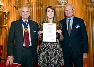 Mr Mark Callingham, Heather May and Sir William Castell