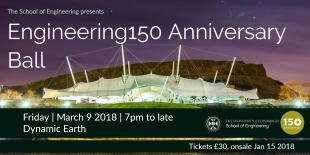 Engineering150 Anniversary Ball event flyer