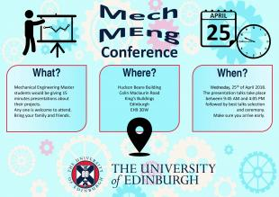 MechEng Conference 2018 poster