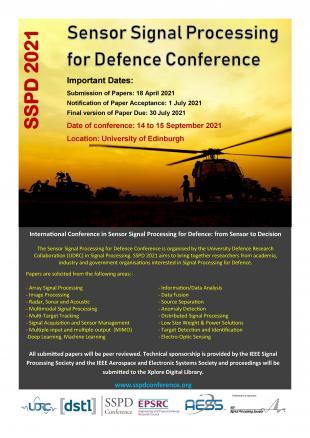 SSPD 2021 conference flyer