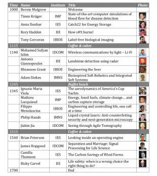 #engineer_ed schedule of talks