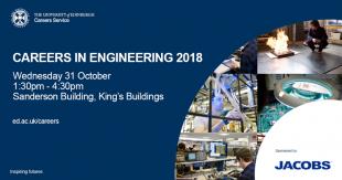 Careers in Engineering 2018 poster