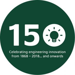 University of Edinburgh Engineering 150 logo and slogan