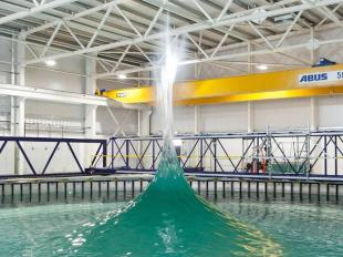 A spiked conical wave in the Flowave Ocean Research Facility
