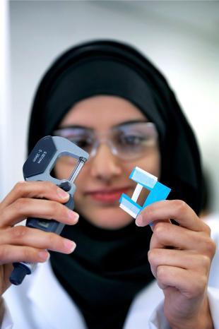 Female Postgraduate Bioengineering student working in the laboratory