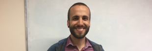 Gabriele Pisetta, Institute of Energy Systems (IES) PhD student, who will go forward to compete in the final of the University's 3 Minute Thesis (3MT) Competition