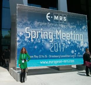 Dávidné Nagy at the  E-MRS Spring Meeting