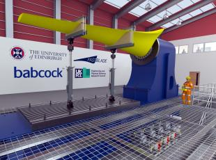 The FASTBLADE structural composites research facility.  Credit: The University of Edinburgh