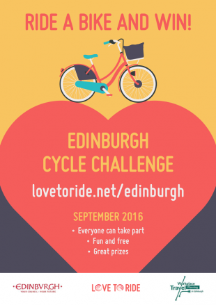 Love to Ride Edinburgh Cycle Challenge 2016 poster