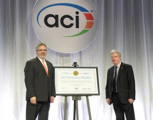 Mike Forde honoured by ACI