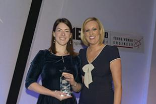 Naomi Mitchison receiving her Award from Steph McGovern
