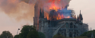 Fire engulfs the roof of Notre-Dame Cathedral (April, 2019)