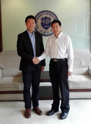 Dr Quan Li with Tianjin University Principal