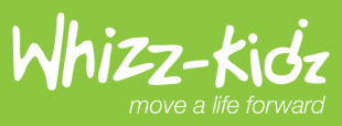Whizz-kidz move a life forward logo