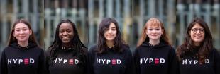 Ewa Radzanowska, Alliance Niyigena, Stella Antonogiannaki, Luisa Schrempf, and Linda di Felice of HYPED