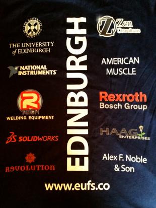 Edinburgh University Formula Student sponsors
