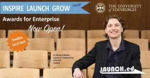 Inspire Launch Grow 2016 poster featuring Dr Richard Walker