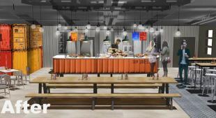 Artist's impression of Brücks Café refurbishment
