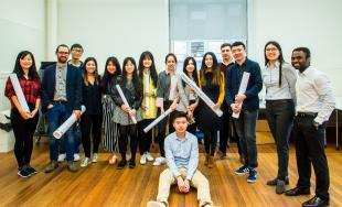 MSc in Advanced Chemical Engineering students, group shot