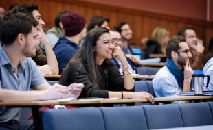 Engineering Postgraduate MSc Taught Students in a lecture theatre