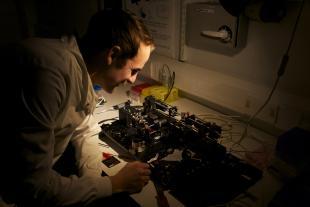 OPTIMA Researcher in the lab