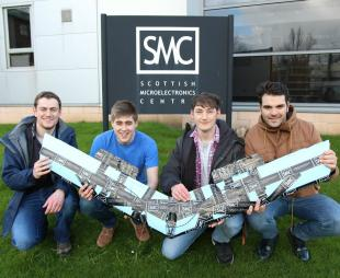 CDT-ISM Research students with a glider