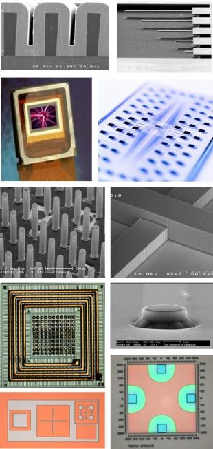 Microfabrication Process capabilities at the SMC demonstrated in graphics