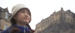 International and visiting students enjoying Edinburgh