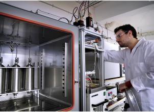Academic working within the Adsorption Laboratory