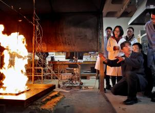 Practical class on Fire Science Laboratory course