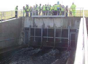 Student Visit to White Cart Flood Defences