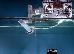 Salter Duck wave energy converter test rig