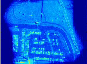 Syntheitc Aperture Radar (SAR) image using fast back projection